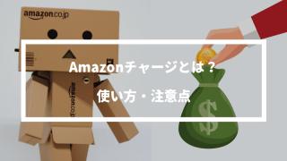 1分でわかる!Amazonチャージとは?使い方から注意点まで解説!チャージするだけでポイントが還元される。